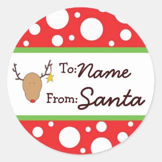 Personalized Santa Gift Sticker