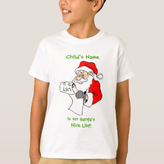Personalized Santa's Nice List Shirt for Kids