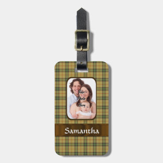 Personalized Saskatchewan tartan plaid Luggage Tag
