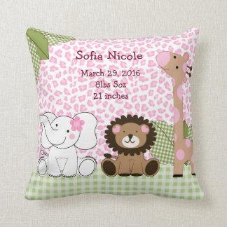 Personalized Sassy Jungle Safari Keepsake Pillow