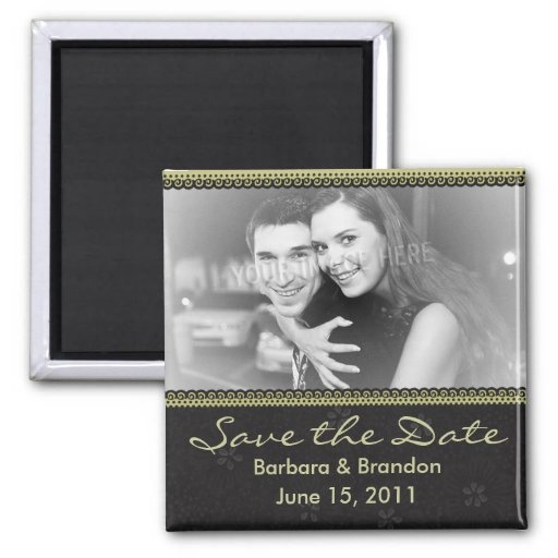 Personalized Save the Date Photo Magnet Refrigerator Magnets