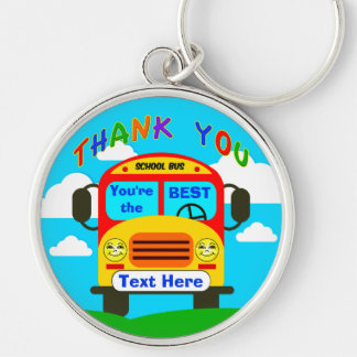 Personalized School Bus Driver Gifts Cheerful Keyc Key Ring