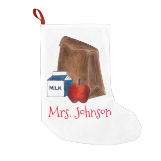 Personalized School Lunch Teacher Gift Stocking