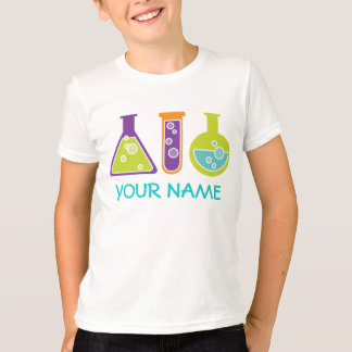 Personalized Scientist Cute Kids Lab Tee Shirt