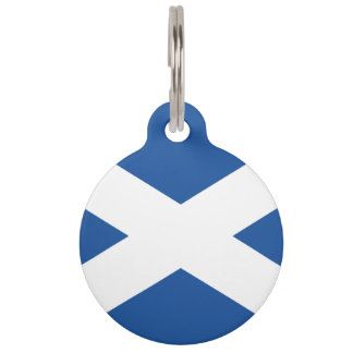 Personalized Scottish flag pet tag for dog or cat