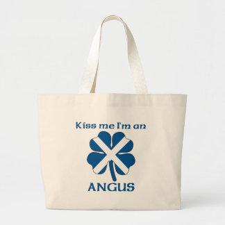 Personalized Scottish Kiss Me I'm Angus Tote Bags