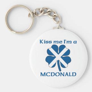 Personalized Scottish Kiss Me I'm Mcdonald Keychains