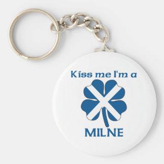 Personalized Scottish Kiss Me I'm Milne Basic Round Button Key Ring