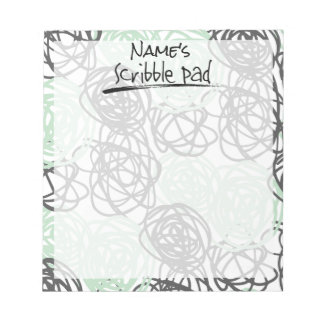 Personalized Scribble Pad (Mint/Charcoal)