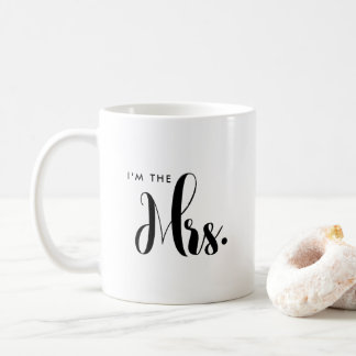 Personalized Script Mr and Mrs Bride Wedding Mug