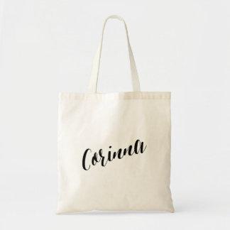 Personalized Script Tote Bag- Corinna