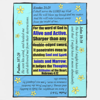Personalized Scripture Blanket