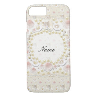 Personalized Seashells and Pearls iPhone 8/7 Case