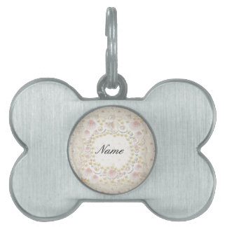 Personalized Seashells and Pearls Pet Name Tag