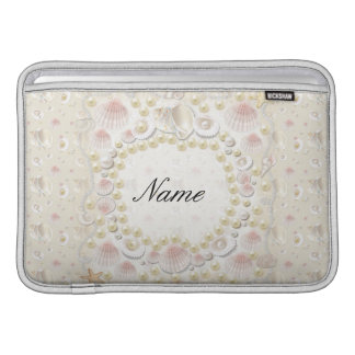 Personalized Seashells and Pearls Sleeve For MacBook Air