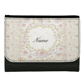 Personalized Seashells and Pearls Wallet