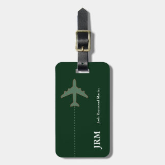 personalized secure travel airplane luggage tag