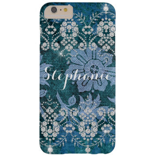Personalized Shabby Chic Lace and Diamond Case