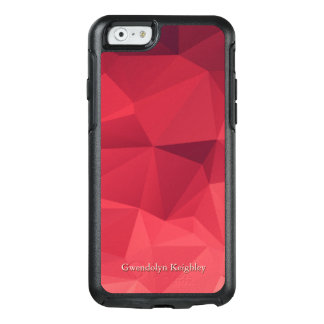 Personalized Shades of Red Geometric OtterBox iPhone 6/6s Case