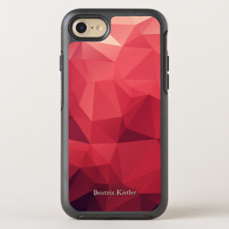 Personalized Shades of Red Geometric OtterBox Symmetry iPhone 8/7 Case