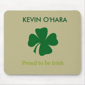 Personalized Shamrock Proud to be Irish Mouse Pad