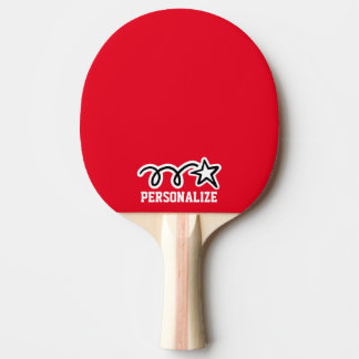 Personalized shooting star design ping pong paddle