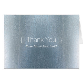 Personalized simple Elegant Thank You Blur Greeting Card