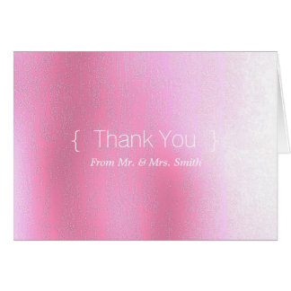 Personalized simple Elegant Thank You Pink Blur Greeting Card