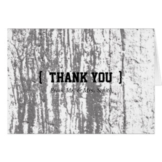 Personalized simple Elegant Thank You Wooden Blur Greeting Card