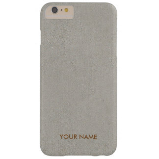Personalized Simply Cement Gold Case Barely There iPhone 6 Plus Case