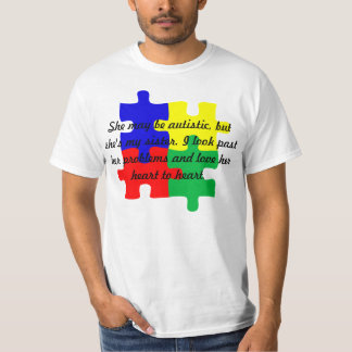 """Personalized """"Sister"""" Autism T-Shirt in Men's"""