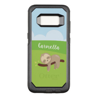 Personalized Sleepy Sloth OtterBox Commuter Samsung Galaxy S8 Case