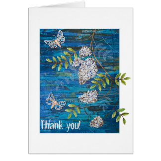 Personalized Small Greeting Card with Night Moths