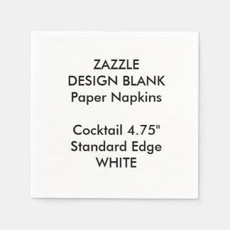 Personalized Small WHITE Cocktail Paper Napkins Disposable Serviette