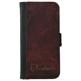 Personalized Smoke and Fire Abstract Design iPhone 6 Wallet Case