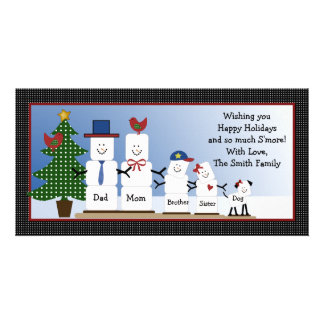 Personalized Smores Family Christmas Card S'mores Custom Photo Card