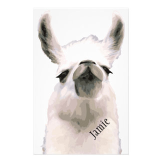 Personalized Snooty Snobby Llama Personalised Stationery