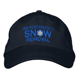 Personalized Snow Removal Snowflake in Blue Embroidered Hat