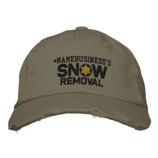 Personalized Snow Removal Snowflake Military Style Embroidered Cap