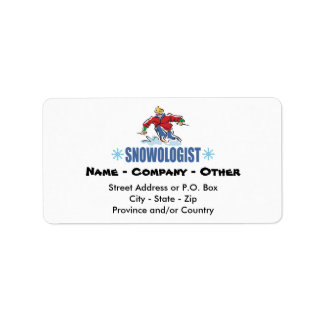Personalized Snow Skiing Address Label