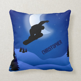 Personalized Snowboarding Mountain Pillow