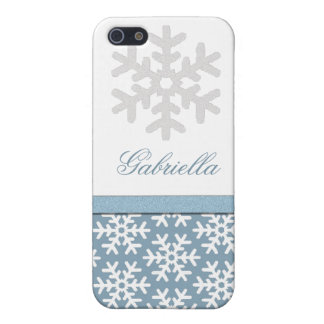 Personalized Snowflake  Covers For iPhone 5