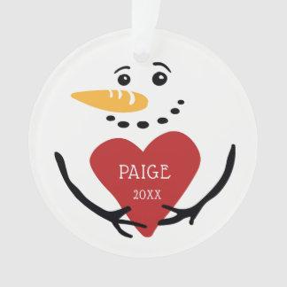 Personalized Snowman Photo Ornament