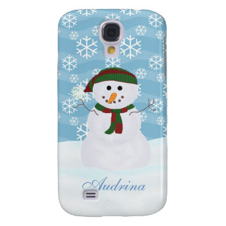 Personalized Snowman  Samsung Galaxy S4 Covers