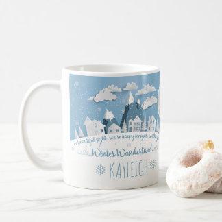 Personalized Snowy Winter Wonderland Holiday Mug