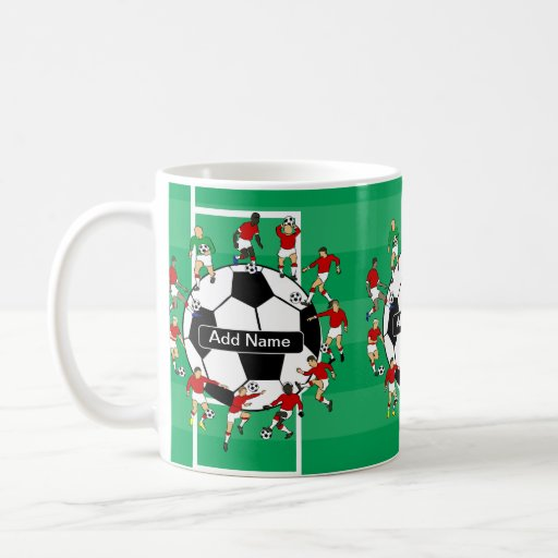 Personalized soccer ball and players mugs