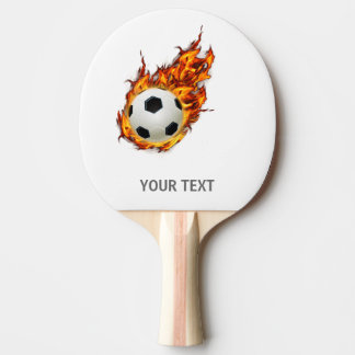 Personalized Soccer Ball on Fire Ping Pong Paddle