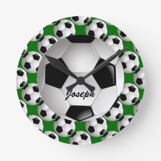 Personalized Soccer Ball on Football Pattern Clock