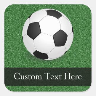 Personalized Soccer Ball Square Sticker