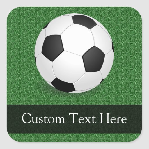 Personalized Soccer Ball Sticker